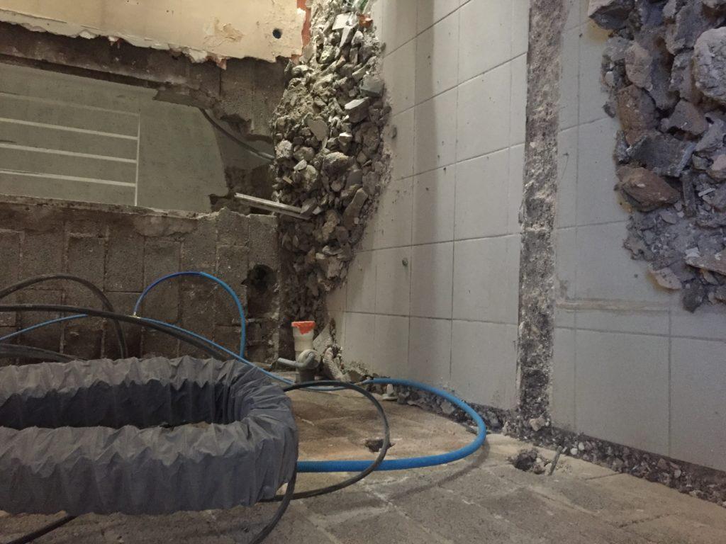 Démolition des murs intérieurs
