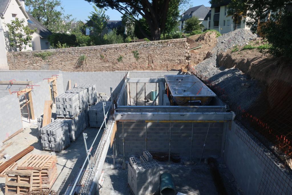 Structure poteaux/poutres du sous-sol