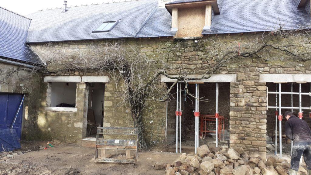 Rénovation des linteaux et appuis de fenêtre